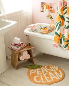 Bathroom Decor pink Urbanoutfitters peachy bathroom scene with pink and peach colours- Warm up your home with pink wall colour Peach Bathroom, Pink Bathroom Decor, Paris Bathroom, Bathroom Wall, Zebra Bathroom, Nature Bathroom, Houzz Bathroom, Disney Bathroom, Lavender Bathroom
