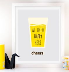 Beer Sign Beer Art Kitchen decor Beer poster Typography Poster Wall Art Inspirational Print Drink Quote Art bar poster Man cave decor print