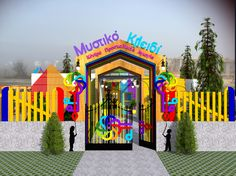 Kindergarten Exterior Design | Colorful Spaces | Mandala Floor | EQ | Kids New kindergarten with special artistic designed spaces for special EQ growing kids | Design by Evelyn A. Kamilaki | DFF Design©2017
