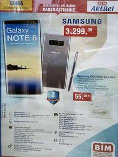 Bim aktüel ürünlerde önceki hafta iphone x sonrası şimdi de Samsung'un amiral gemi modeli Galaxy note 8 3299 TL fiyatla satışta. Samsung Türkiye garantili olmayan telefon paralel ithalat. 2yıl Garanti hizmetini hangi firma veriyor şimdilik bilmiyoruz. Note 8 paralel ithalat piyasada bu fiyatlardan satılıyor ama sitelerde indirim kuponu ve kart puan hediyeleri ile çok daha uygun fiyata alınabilir. Note 8 hangi bim şubelerinde satılacak? Samsung note 8 tüm bim şubelerinde satılmayacak. Şube...