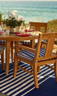 Handcrafted from premium teak, our Melbourne Dining Collection will stand the test of time and the elements.  | Frontgate: Live Beautifully Outdoors