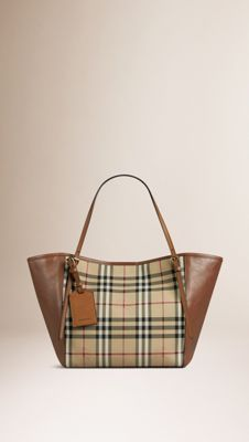 Shoulder Bags for Women. Burberry United States. Honey tan The Small Canter  in Horseferry Check ... abf5cdb316437