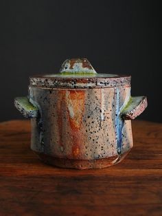 Lidded Vessel Dromore Ceramic Stoneware Pottery by Claywork Ceramic Boxes, Ceramic Jars, Ceramic Clay, Ceramic Pottery, Pottery Art, Earthenware, Stoneware, Objet Deco Design, Cerámica Ideas