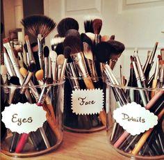 Labeling!! #MakeupBrushes