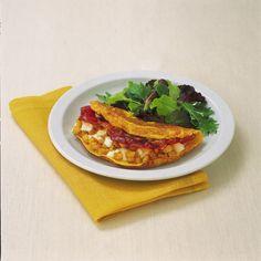 Omelette con patate e speck