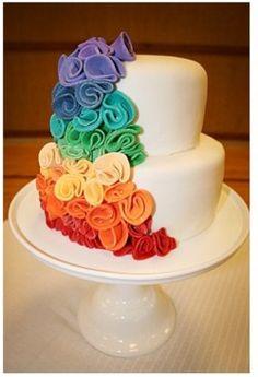 rainbow wedding theme | Tumblr