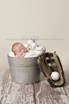 Tommy has a HUGE bucket of balls! How cute this would be!?
