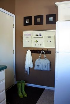 Love this cute little entryway space, great for a small space by claudette