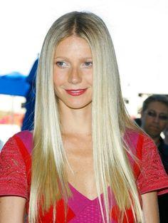 super straight, long hair, center-part.