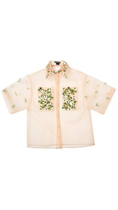 7f524d13 Embellished Bejeweled Oversized Beige Nude Button-Down by Meghan Hughes |  Nineteenth Amendm.