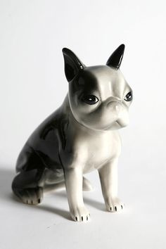 porcelain boston terrier