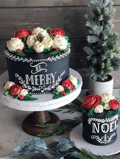 The White Flower Cake Shoppe ( Holiday Cakes, Christmas Desserts, Christmas Treats, Christmas Cakes, Christmas Nibbles, Christmas Decor, Pretty Cakes, Beautiful Cakes, Amazing Cakes