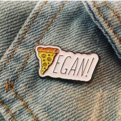 Vegan Pizza Soft Enamel Pin measures wide & includes a rubber backing. Pins are hand designed in Los Angeles. Go Vegan! How To Become Vegan, Vegan Quotes, Cute Pins, Pin And Patches, Vegan Appetizers, Hand Designs, Vegan Lifestyle, Vegan Recipes, Vegan Ideas
