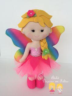 Felt Doll Patterns, Felt Crafts Patterns, Felt Crafts Diy, Felt Diy, Handmade Felt, Stuffed Toys Patterns, Fun Crafts, Crafts For Kids, Fleece Projects