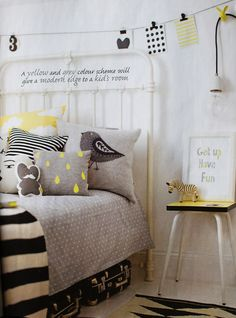 Grey and Yellow. Love this color combo.