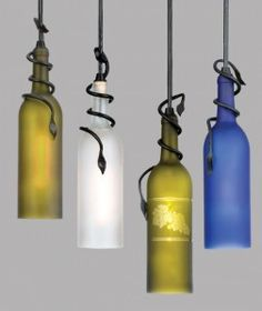 Wine bottle lights.