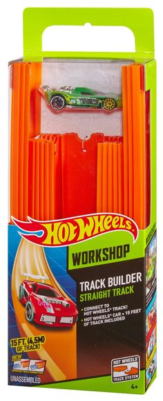 Amazon.com: Hot Wheels, Track Builder, Straight Track Includes 15 Feet of Track and a Bonus Car: Toys & Games