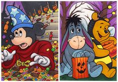Halloween by *AmyClark (looks like Mickey got more candy than he bargined for.)
