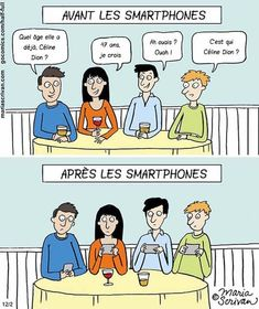 Here's a little Monday Smartphone humour from Maria Scrivan Cartoons to start your week off on the right foot. Barbara Streisand, Don Meme, Then Vs Now, Satirical Illustrations, Smartphone, Films Cinema, Powerful Images, Funny Illustration, Funny Pictures