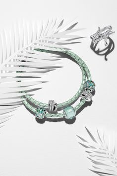 Be on trend with exotic green hues and cool sterling silver snake pieces. #PANDORA #PANDORAbracelet