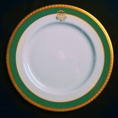 "President Jimmy Carter, 39th President of the United States (1977–1981) and First Lady Rosalynn Carter's ""Official"" White House China actually arrived after they left office. Friends of the President and Mrs. Carter had presented them a Lenox China service decorated with a gold Presidential Seal and a ""Carter Green"" border surrounded in 3-D gold detail. Most of this ""Official"" White House China was delivered to the Carter Presidential Library. It is believed that the White House may have…"