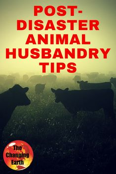Post #Disaster Animal Husbandry Tips along with Ch 6 of the #apocalyptic adventure Day After Disaster on The Changing Earth Podcast
