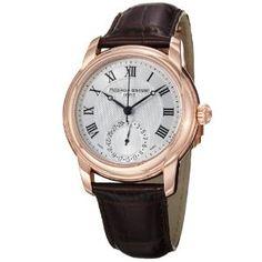 Frederique Constant Men's FC-710MC4H4 Maxime Dark Brown Leather Strap Watch $1,795.00 #luxurywatches