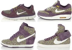 It's the Nike x Liberty Pepper Pack featuring the Dunk Sky High, Air Max 1, Free Run 3 and Blazer High Roll down! #Love