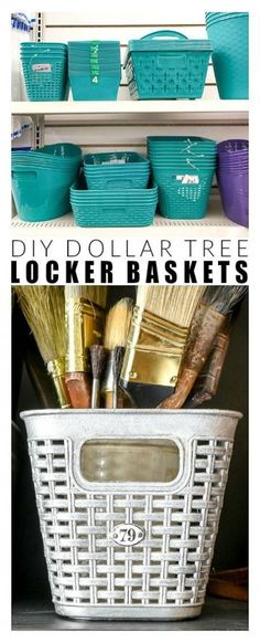 46 Ideas For Baby Diy Organization Baskets Dollar Tree Baskets, Dollar Tree Decor, Dollar Tree Crafts, Dollar Tree Organization, Bedroom Organization Diy, Craft Organization, Refrigerator Organization, Organizing Ideas, Rub N Buff