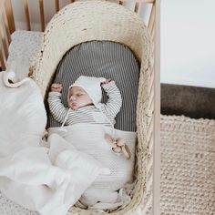 One of the most humbling scenarios of being in business almost 4 years, is seeing treasured pieces bought for a first born then lovingly reused for a second ✨ Baby Leo sleeping soundly in his Fog Linen Pilot Hat and Organic Cotton Blanket, both used before by his big sister Frankie   @blondeandbone  #littleco #childrensconceptstore #baby #siblings #kidsroom #kidsstyle #kidsroomdecor #nursery #nurserydecor #organic #foglinen