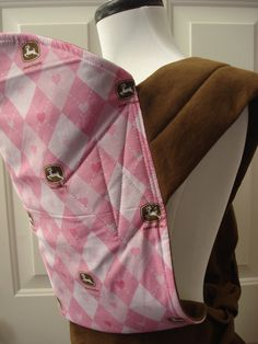 Mei Tai Baby Carrier Pink John Deere by AnnaCarrieBaby on Etsy, $30.00