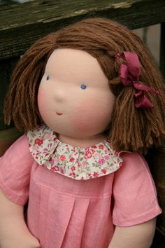 Petit Gosset Waldorf Doll 19 inch  Manon by NobbyOrganics on Etsy, $275.00