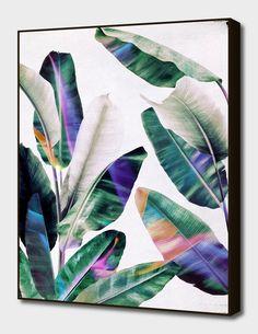 Tropical Mini Art Print by Leemo - Without Stand - x Motif Tropical, Tropical Leaves, Tropical Prints, Palm Print, Art Et Illustration, Canvas Prints, Art Prints, Canvas Artwork, Graphic Art