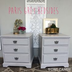 Paris grey bedsides , pm me for details on fb /ppvilladesign