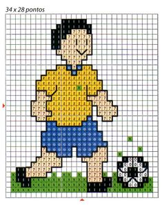 Cross Stitch Cards, Cross Stitch Embroidery, Cross Stitch Patterns, Knitting Patterns, Crochet Patterns, Soccer Boys, Football Boys, Counting For Kids, Boys Playing
