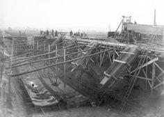 Mittellandkanal im Bau(under construction)