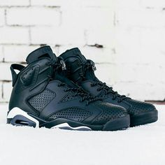 "The last Air Jordan release of 2016? For a closer look at the ""Black Cat"" Air Jordan 6, tap the link in our bio."