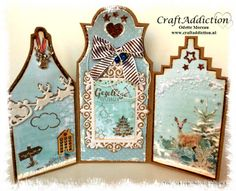 CraftAddiction Designteam en Challengeblog Medium Blog, Box, Advent Calendar, Mixed Media, Card Crafts, Holiday Decor, Handmade Cards, Artwork, Cards
