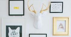 Image via The Everygirl .    There are only a million ways to create an interesting gallery wall.  Mixing various frame finishes, size...