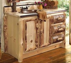 Image Result For Western Rustic Bathroom Vanity  Your Western or mountain home is not complete without a rustic bath. These sink  chests and vanities will customize your bath and create a rustic retreat for you  and your guests. Choose from a variety of designs in wood and stone, each  includes...
