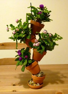 Complete Tabletop Tipsy Pots, by Jill Staake