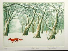 Fox in snow - Frans Wesselman