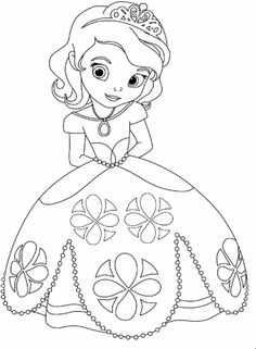 Princess coloring page. Kleurplaat prinses