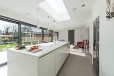 Mr and Mrs Smith - Real Customer Kitchens from ALNO : Diane Berry Kitchens Berry, High Gloss White Kitchen, Handleless Kitchen, Mr And Mrs Smith, White Kitchen Island, Contemporary, House, Kitchens, Furniture