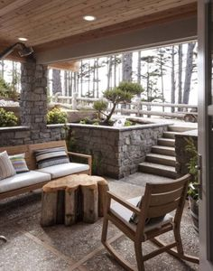 Sunken Covered Porch