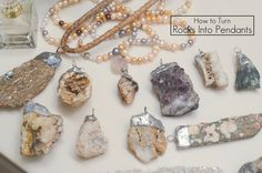How to Make a Rock Into a Pendant: Paris Rock Necklace | by Stacie Stacie Stacie
