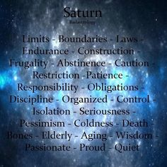 Astrology: Saturn Keywords | #Astrology #Saturn