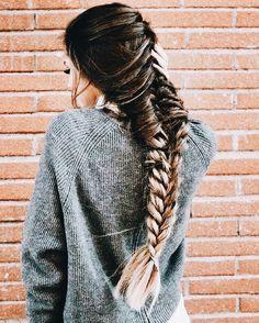 Hair goals fishtail brunette long hair