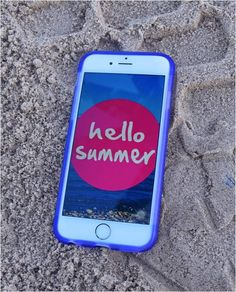 $10.15 Say hello to summer and to new to be iphone 6 slim gel case