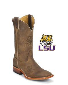 Nocona Men's LSU Tigers Square Toe Boot